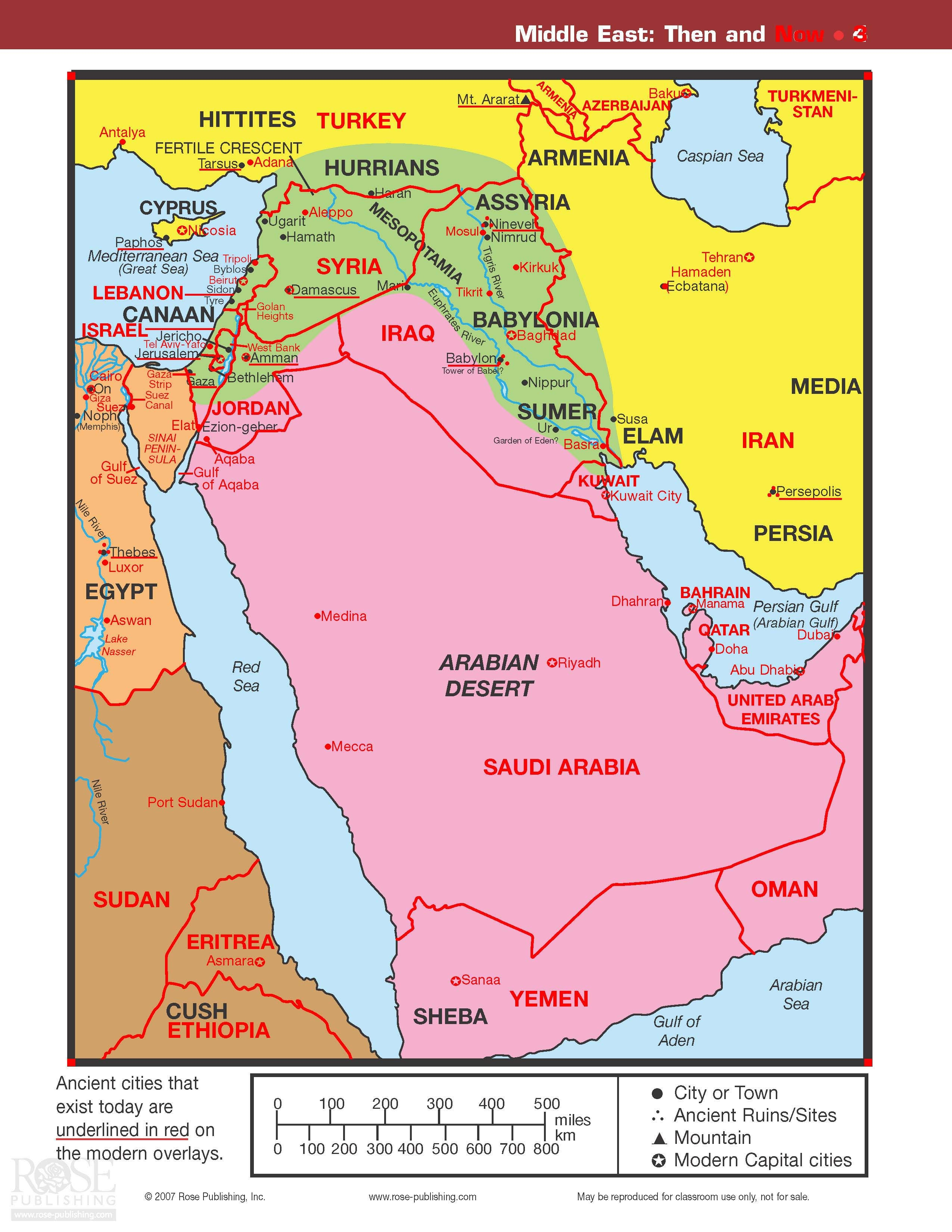 Map Middle East Then And Now