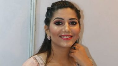 Sapna Choudhary sets internet on fire by wearing a peach colored lehenga, is injured doing a traditional look