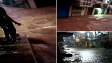 Heavy rainfall in Telangana: Heavy rains in Hyderabad led to water logging in some parts of the city, breaking of ponds and flooding in residential areas