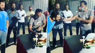 Salman Khan ने मनाया अपने इस बॉडीगार्ड का जन्मदिन, केक खाते समय की ऐसी हरकत, देखें Viral Video