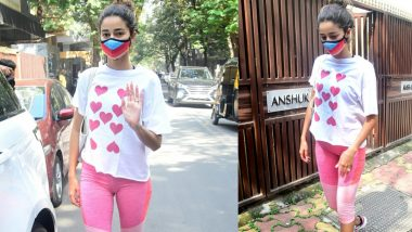 Ananya Panday Photos: Ananya Pandey spotted outside Yoga classes, looks beautiful in Heart Tee