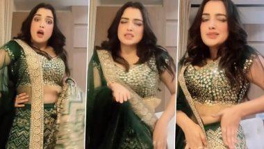 भोजपुरी एक्ट्रेस Aamrapali Dubey ने हरा लहंगा पहनकर 'लहंगवा लस लस करता' पर किया हॉट डांस, Instagram Reels पर Video हुआ Viral