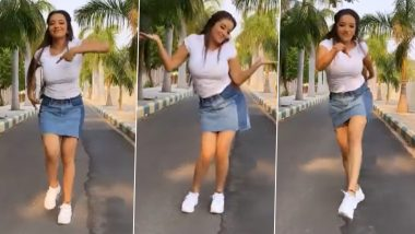 Monalisa Dance Video: Bhojpuri actress Monalisa's new dance came in front, style will be crazy