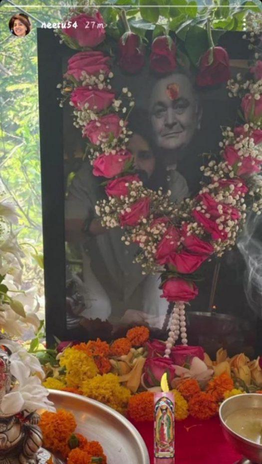 Family worshiped on Rishi Kapoor's first death anniversary, Neetu Singh shared Inside Photo World Daily News24