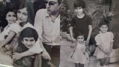 Seeing this childhood photo of Saif Ali Khan, you will also be impressed, sister Saba shared the family's Rare Picture