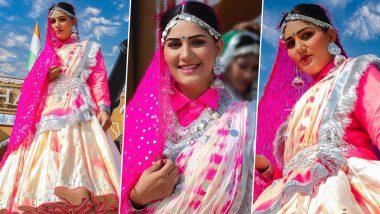 Sapna Choudhary created a video adorned like a bride, storm came on the internet