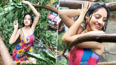 TV actress Deepika Singh seen dancing among fallen trees in Cyclone Tauktae, see Hot Photos and Videos