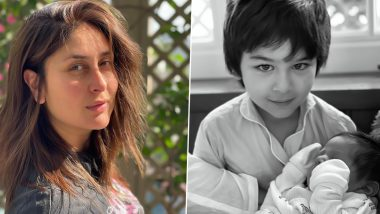 Kareena Kapoor Baby Boy Photo: Taimur Ali Khan with younger brother seen in the dock, Kareena Kapoor shared a very cute photo