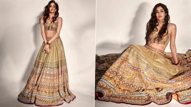 Janhvi Kapoor Photos: Janhvi Kapoor flaunts her glamorous look wearing a kalidar lehenga, it is difficult to take her eyes off