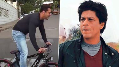 World Bicycle Day 2021: Salman Khan rides a bicycle at Shah Rukh Khan's 'Mannat' bungalow, watch this funny throwback video