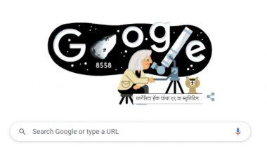 Margherita Hack Google Doodle: 'द लेडी ऑफ द स्टार्स' का 99वां जन्मदिन, गूगल ने इटैलियन प्रोफेसर व खगोल भौतिकीविद् मार्गेरिटा हैक को समर्पित किया खास डूडल