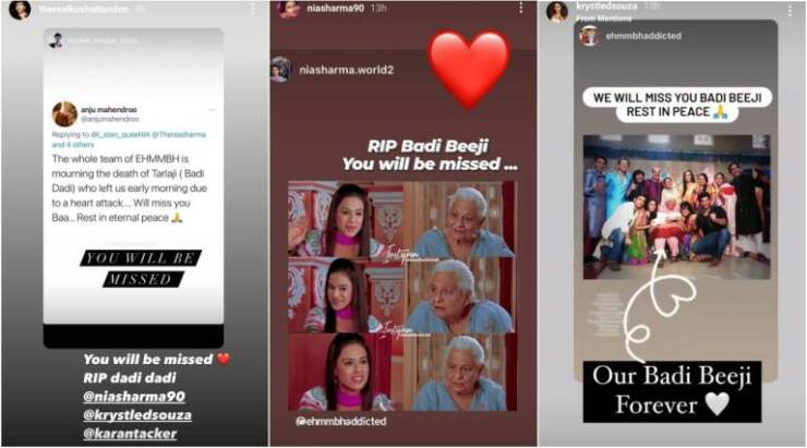 Actress Tarla Joshi dies of heart attack, Nia Sharma, Krystle D'Souza and these celebs pay tribute World Daily News24