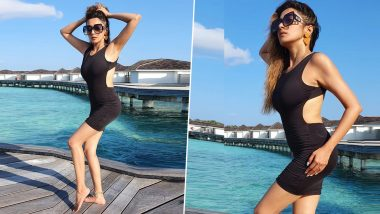 Uttaran actress Tina Dutta shows off her sexy style in a black dress on the beach
