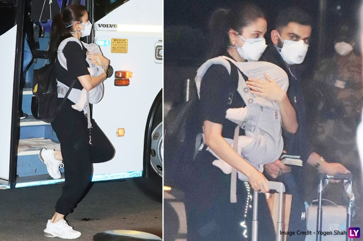 England Tour: Anushka Sharma spots her daughter Vamika on her chest at the airport, husband Virat Kohli also seen with her (See Photos) World Daily News24