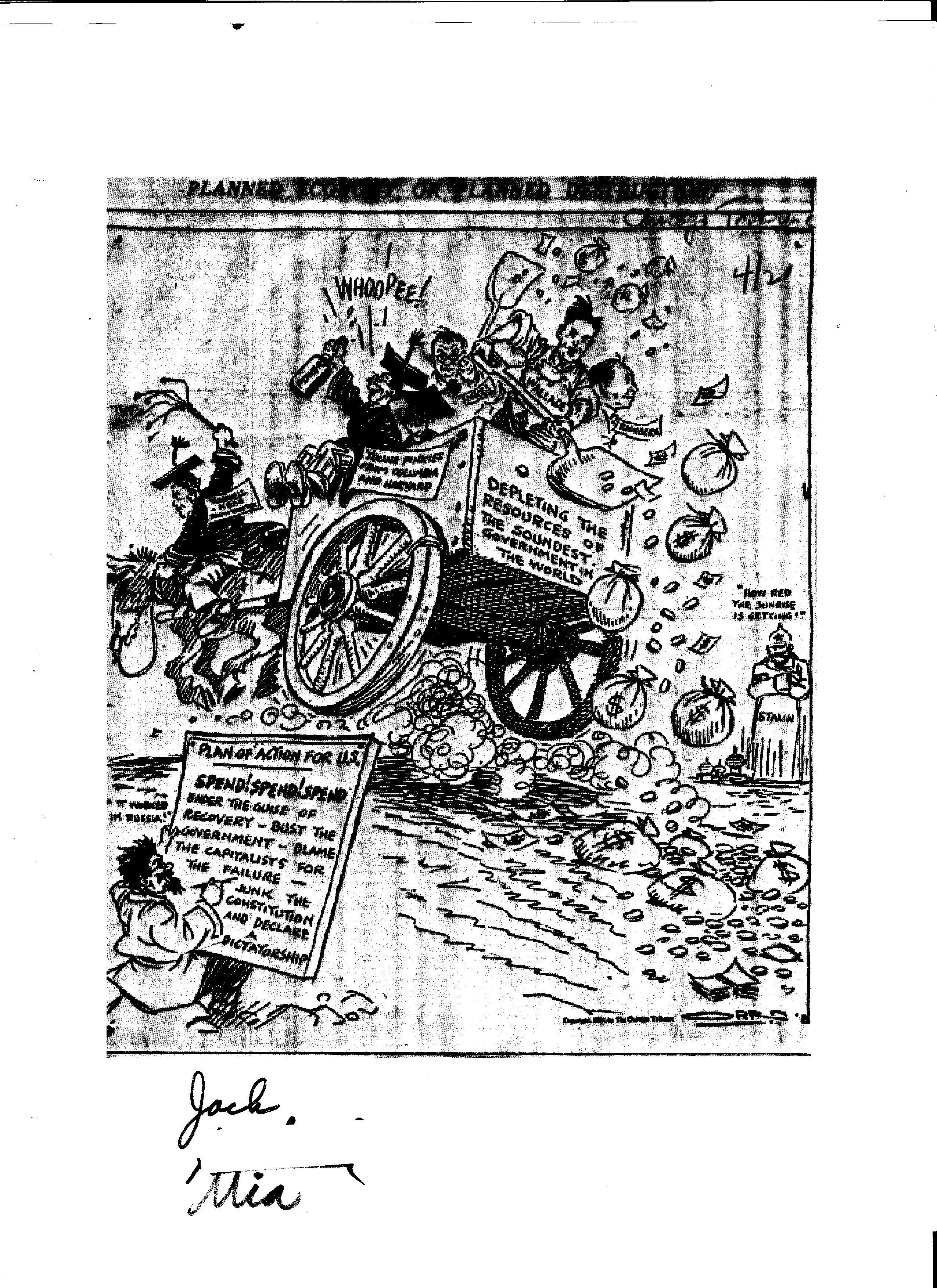 Anti New Deal Cartoon