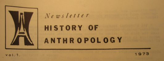 History of Anthropology Newsletter volume 1