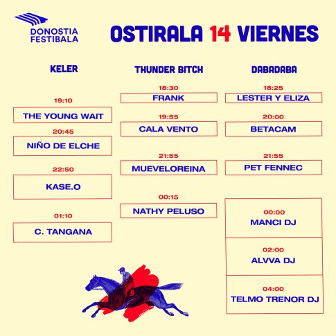 Donostia Festibala 2018 - Horarios (1-2)