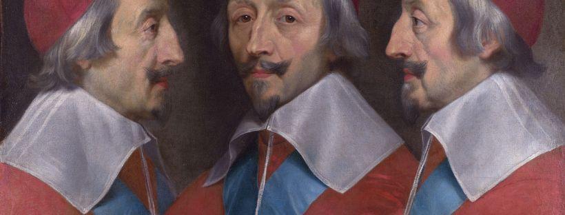 Portrait du Cardinal de Richelieu le montran de face mais aussi de profil