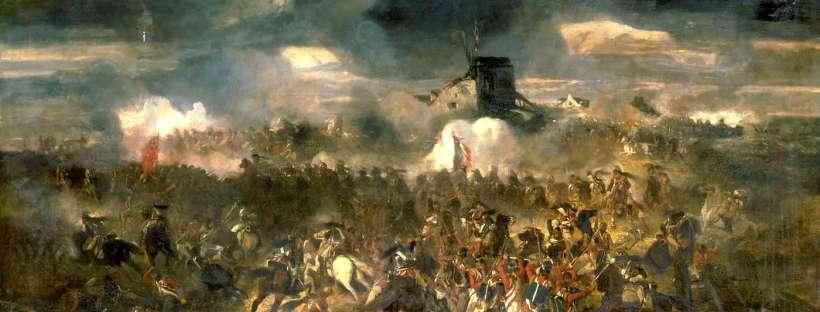 Tableau représentant la bataille de Waterloo