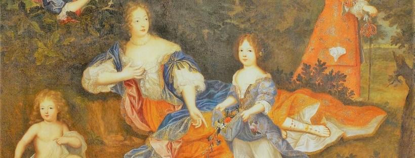 gros plan sur un tableau représentant la Marquise de Montespan et ses enfants