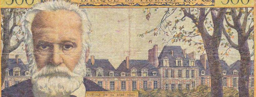 Billet de 500 francs figurant le portrait de Victor Hugo