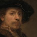 Rembrandt, Autoportrait à l'âge de 34 ans, 1640 (détail). The National Gallery.