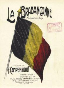 Partituur van de Brabançonne van ongeveer 1910