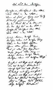 Tekst van het Duitse volkslied door August Heinrich Hoffmann von Fallersleben