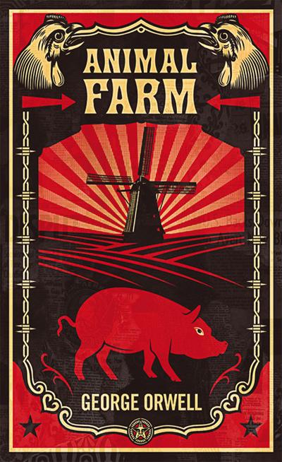 Afbeeldingsresultaat voor animal farm george orwell