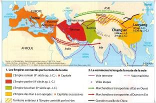 carte route de la soie