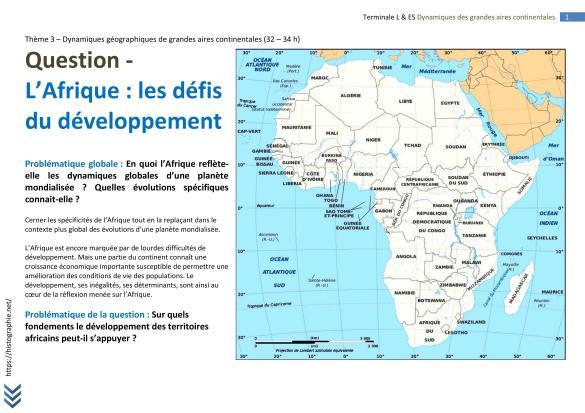 AFRIQUE TERMINALE L FICHE BAC (1)