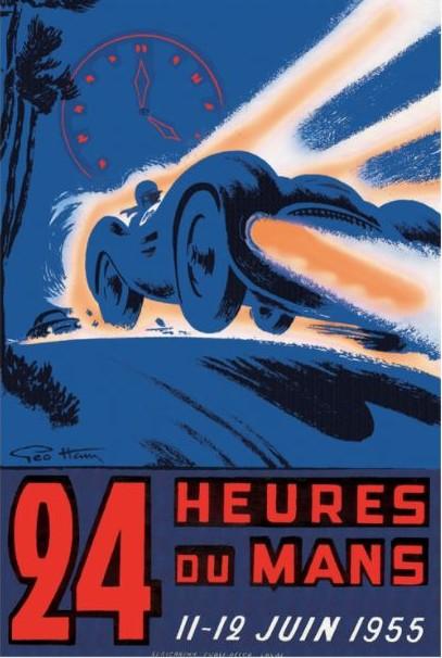Affiche 24 Heures du Mans 11 juin 1955