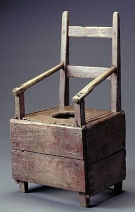 chaise percée Louix XIV
