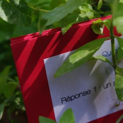 engame enveloppe a cacher chasse au trésor coffret hua histoires d'anniversaire jardin