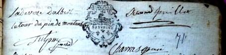 Mariage de Magdeleine-Angélique de La Tour avec Pierre-Paul Clerc de Ladeveze 4/4
