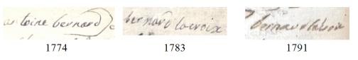 Les générations chaupatières (1730-1804) 3/3