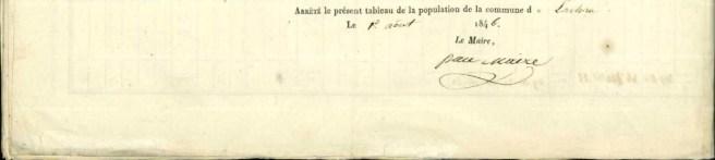 LES RUES ET LES QUARTIERS DU VILLAGE EN 1846 4/4