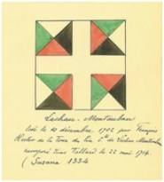 Drapeau du régiment de Lachau-Montauban