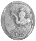 Sceau de Galburge de Mevouillon princesse d'Orange