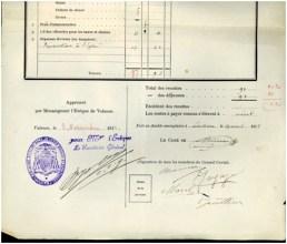 Extrait du registre des comptes du Conseil curial du Lachau (1911)