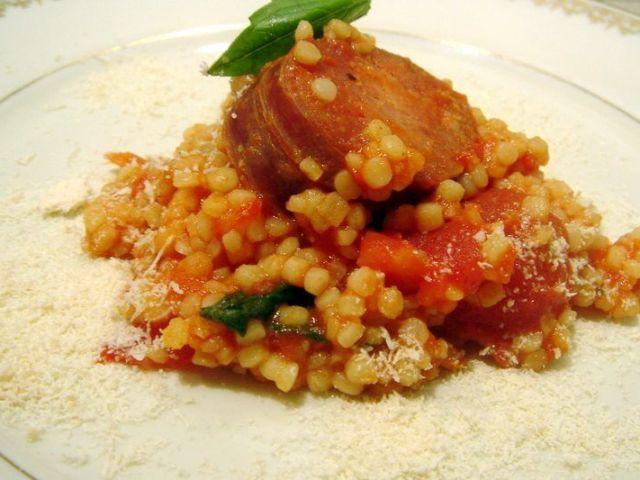 fregola au salami à la sarde