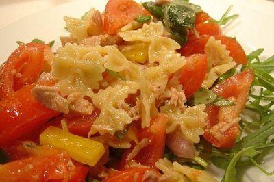 salade de farfalle au thon