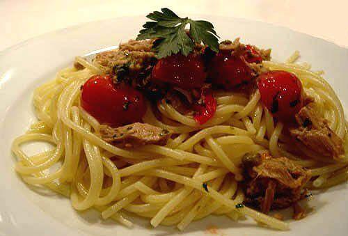 spaghetti au thon