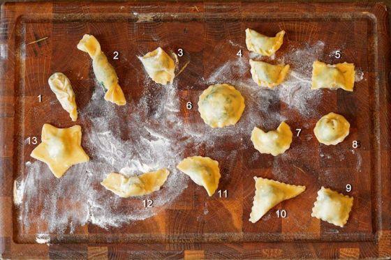 formes des raviolis