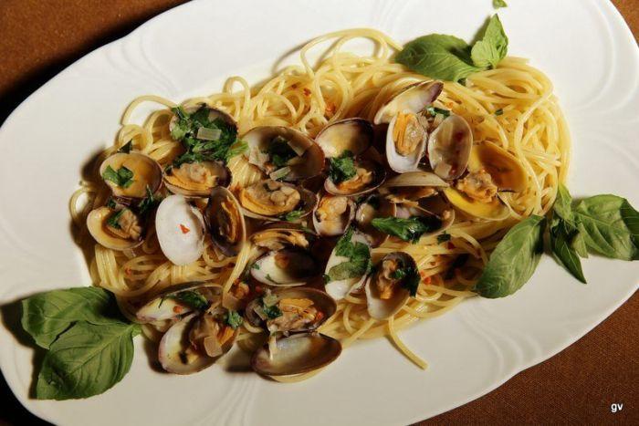 spaghettis aux coquillages façon thai
