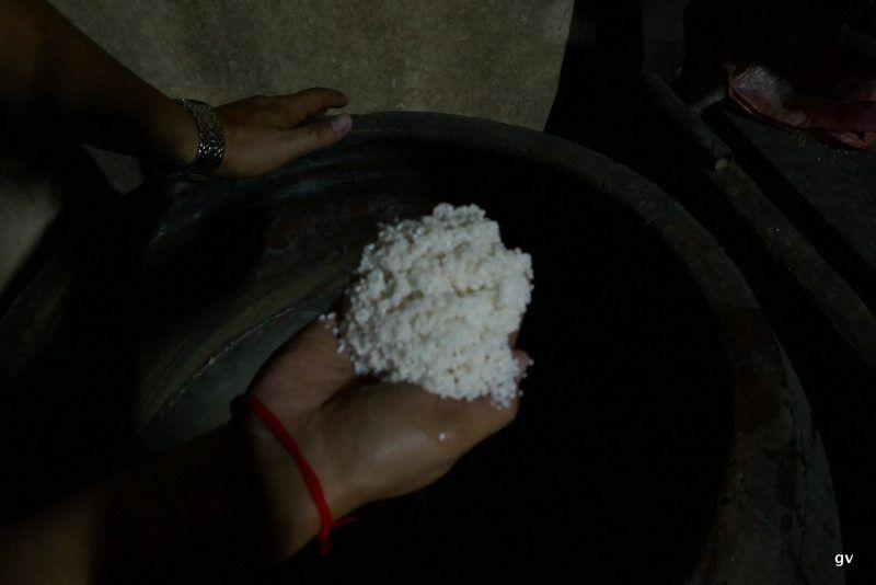 riz mis à tremper