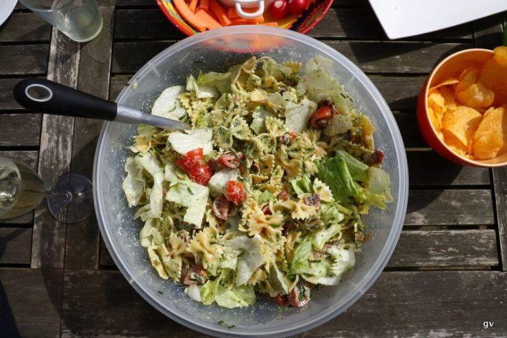 salade de farfalle sauce ranch
