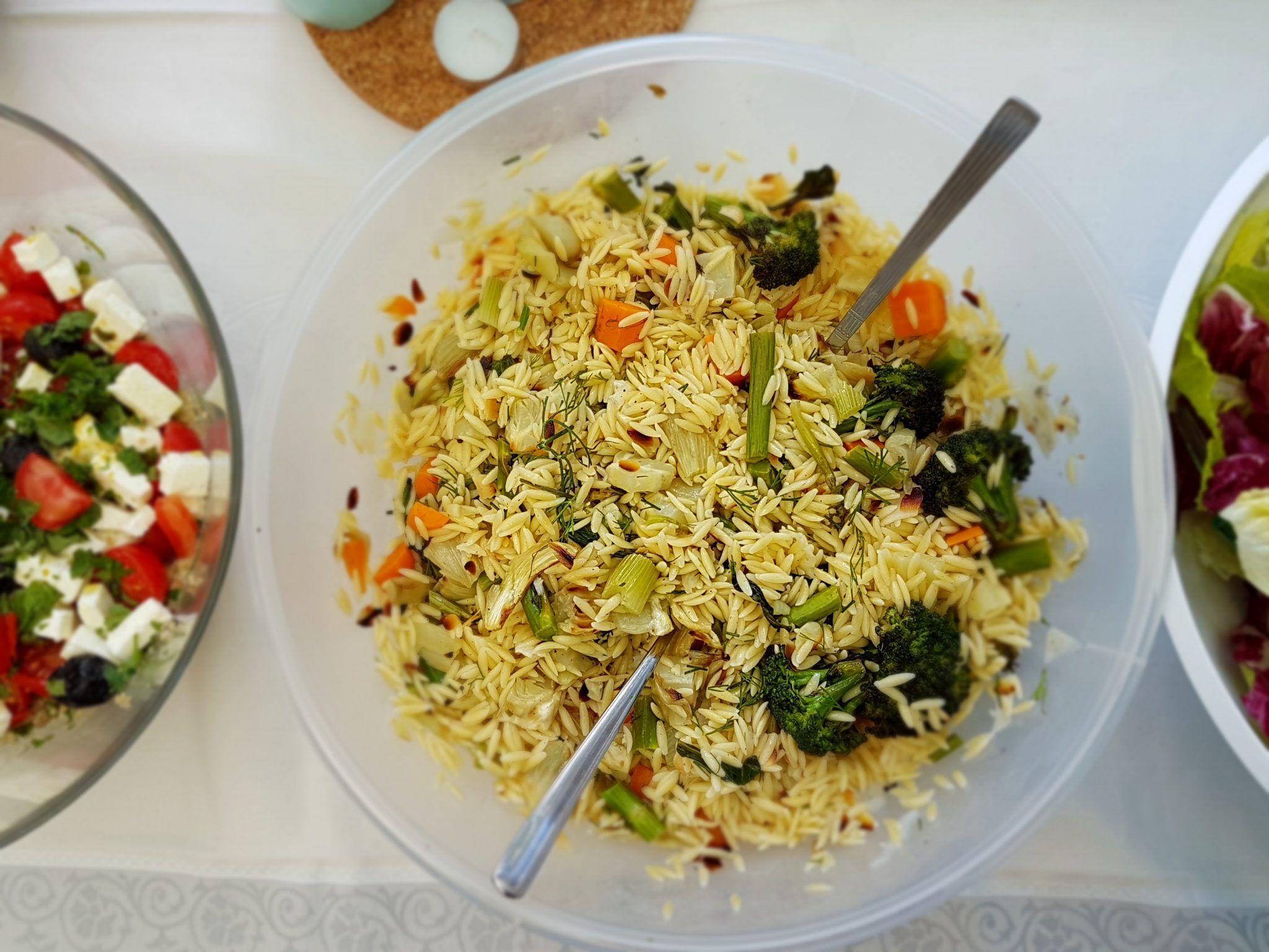Salade d orzo aux l gumes grill s histoire de p tes - Recette legumes grilles au four ...