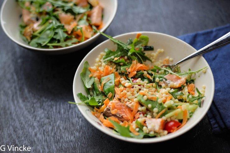 salade de couscous perlé au saumon