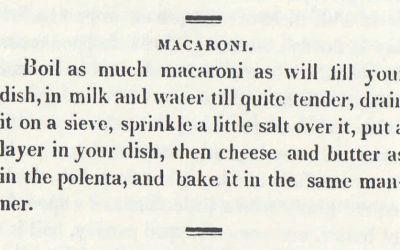 Histoire du mac & cheese